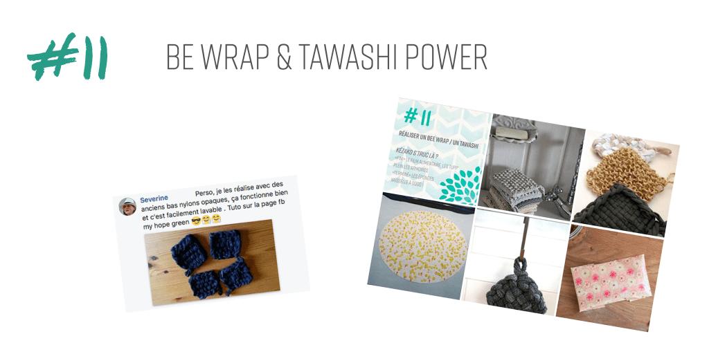 réaliser des bee wrap et tawashi pour une vie zéro déchet plus écologique et économique au naturel