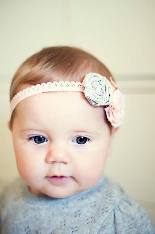 bébé et headband