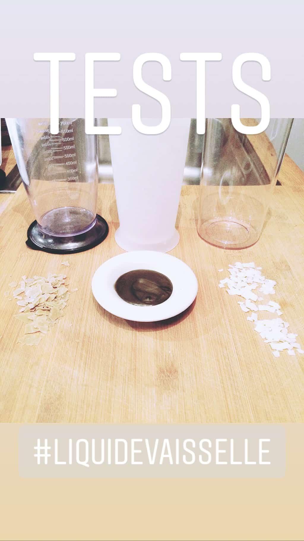 test de savons liquides vaisselle