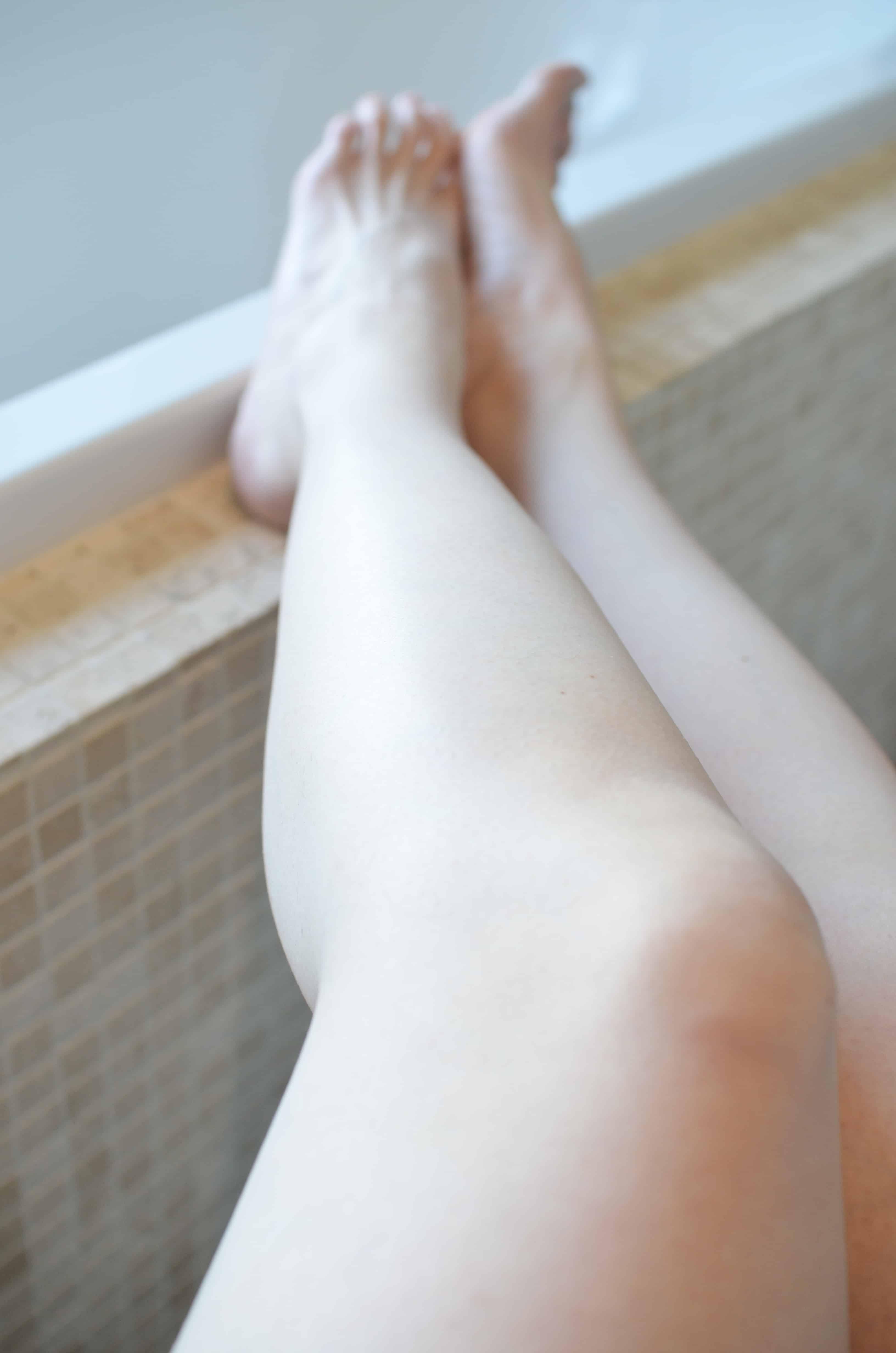 jambes douces rasées